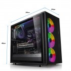 ATX-Midi Fractal Design Define S2 Vision RGB, Tempered Glass