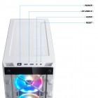 ATX-Midi Corsair iCUE 465X RGB, weiss